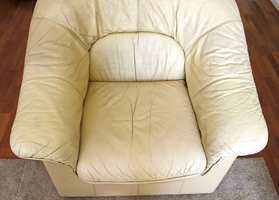Etter: Stolen er behandlet. Resultatet ser du selv.