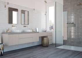 <b>TIDENS TANN:</b> Badet skal vare lenge. Da gjelder det å investere i kvalitet over hele linja – i materialer, produkter, tekniske løsninger og håndverkere. (Foto: Golvabia)
