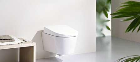 Helt ren med vann - går det an? Nå lanserer Geberit sitt nye dusjtoalett.