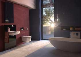 <b>TOALETTSPA:</b> Et dusjtoalett på badet gir deg spafølelsen hver gang du må på do. – Folk vil ha mer velvære hjemme og stiller høyere krav til toalettkomfort, sier Wenche Sydhagen hos Geberit. (Foto: Geberit)