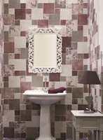 Romantisk og tøff stil med flisene Cotto Vogue som finnes i flere farger og mønstre. Overflaten har lett håndslått struktur.