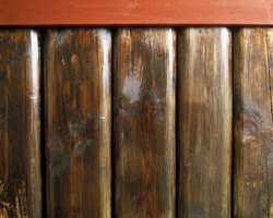 Blank og fet tretjære på laftevegg - slik skal det være!