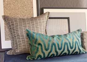 Lunt og røft: Tekstiler med mellomfôr gir volum og eksklusivitet.