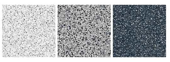 <b>TERRAZZO:</b> Dagens store interesse for tidløse materialer, funkisarkitektur og modernisme, har ført til at de spettete flisgulvene med terrazzo-utseende er tilbake i trendbildet.