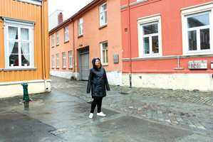 <b>TYPISKE FARGER:</b> Kine ved hjørnet Hornemansgården og Presidentveita med stedstypiske nyanser av fargene mellom Y30R og Y80R, som er mest representert i bybildet.