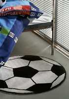 Eller et morsomt teppe formet som en fotball...