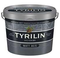 Tyrilin Matt Beis finnes i 15 tidsriktige farger hentet fra fjellets fargepalett. Beisen er vanntynnet og basert på alkyder, forsterket med akryl, og tørker raskere enn tradisjonell oljebeis.