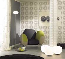 Spennende mønster på en vegg, men kanskje ikke i soverommet