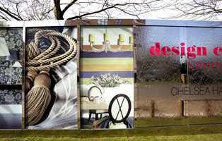Fra oppkjørselen til Chelsea Harbour og London Design Week.