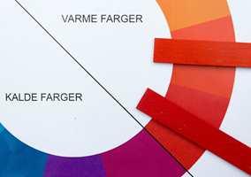 <b>KALD-VARM:</b> Rødt kan også være varm og kald. Jo nærmere blått, jo kaldere er rødfargen. Mot gult blir den varmere. (Foto: Bjørg Owren/ifi.no)