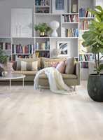 <b>PENT MED PARKETT:</b> Et rent og pent gulv gir alltid god stemning i huset. Men husk at det skal rengjøres riktig. – Det finnes ingen snarveier til rene gulv, sier Espen Josten hos Tarkett.