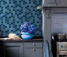 <b>VÅTROM: </b> Våtromstapet er også godt egnet kjøkkener.