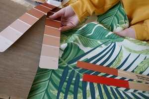 <b>KONTEKST:</b> Fargen må sammenlignes med de andre fargene og materialene som skal inn i rommet.