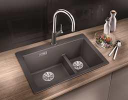 <b>TO KUMMER:</b> Vurder om du har behov for én eller to oppvaskkummer. Vasker du opp mye for hånd, er det smart med to. Bruker du bare oppvaskmaskin, holder det kanskje med én. Her er Blanco Pleon 6 Split i fargen lavagrå fra Nibu/Rørkjøp.