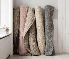 <b>HÅNDVEVD:</b> Alpen er et håndvevd tosidig teppe i håndspunnet ull. Det finnes i en lang rekke størrelser og farger. InHouse Group har teppet.