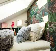 <b>BARNEROM MED LIV:</b> I huset til Venke og ektemannen Thomas bor det også barn. De har selvsagt fått tapet på sine soverom. – Farger og mønstre gir fornøyde unger, sier hun.