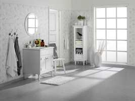 Den viktigste funksjonen et gulv skal ha på baderommet er at det er fuktsikkert. Det betyr derimot ikke at det må gå på bekostning av pen design.
