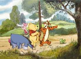 Barna elsker Ole Brumm! Her er Winnie Expedition på veggen.