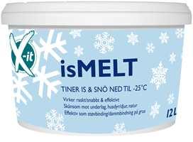 <b>SMART SMELTER:</b> X-it isMELT fra Krefting sørger blant annet for at tynne islag forsvinner. Produktet inneholder ikke salt og avgir ingen merker.